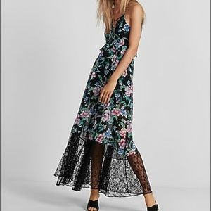 Express Floral Lace Maxi Dress